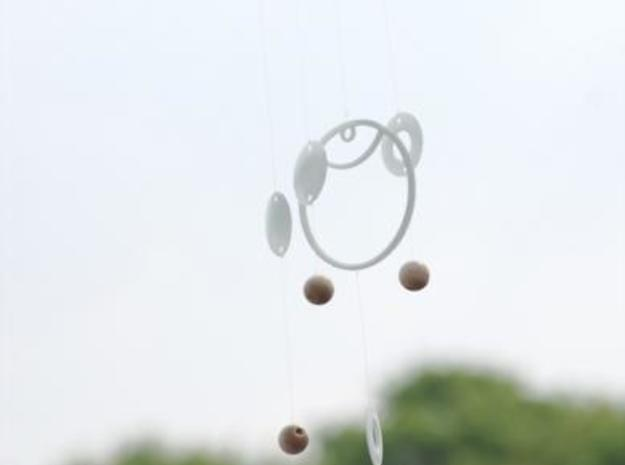 Glass wind chime 3d printed action shot