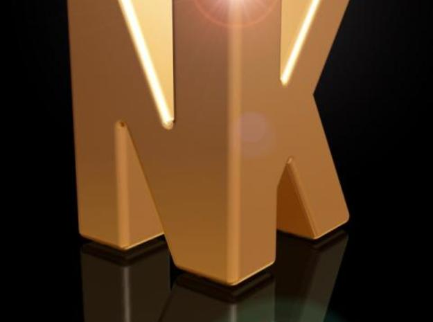 NK 3d Logotype 3d printed Description