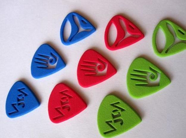 Pix Pics 3d printed Order in any of the vibrant colors that Shapeways offers!