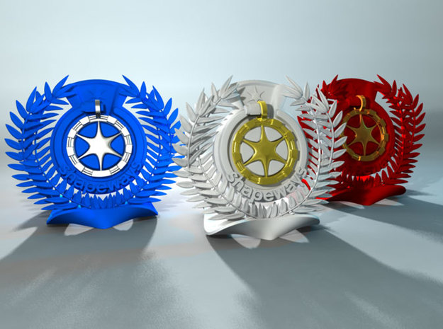 Shapeways Award Base 3d printed Simulated preview of base in Strong and flexible materials
