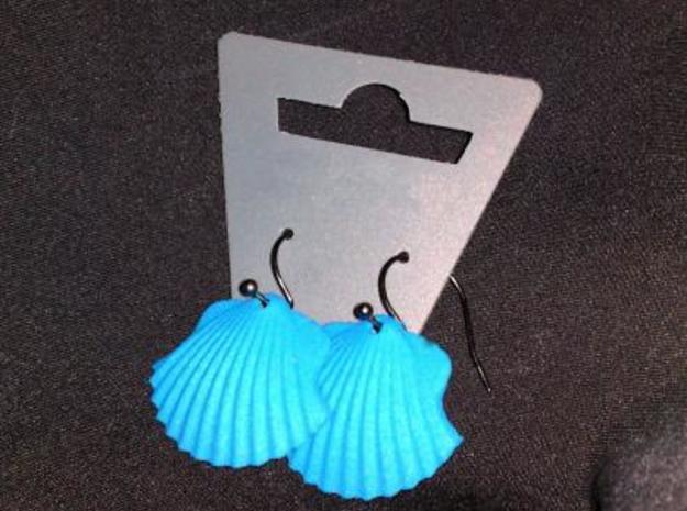 "Concha earrings 3d printed Real world version with ""Pilgrim"" hooks :-)"