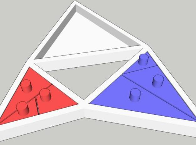 The Triangles of Pythagoras Puzzle 3d printed small triangles assembled