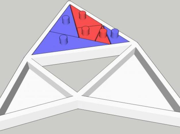 The Triangles of Pythagoras Puzzle 3d printed large triangle assembled