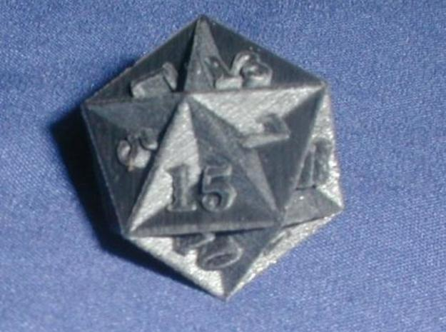 Great Dodecahedron - d20 3d printed Print in Black Detail