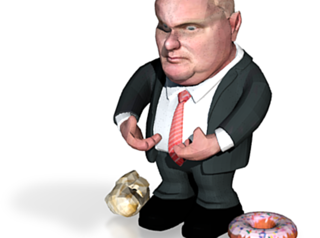 Rob Ford Canada's Mayor of Toronto 3d printed