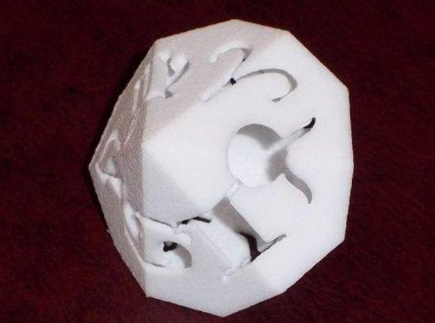 Zodiac (hollow) 3d printed WSF print