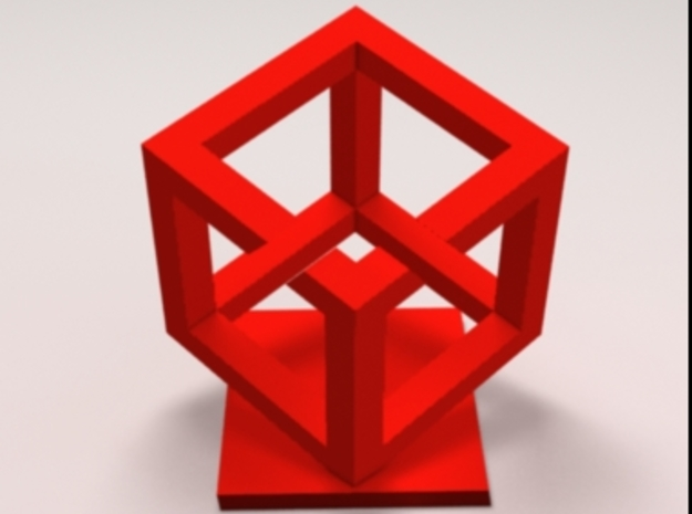 Impossible Cube 3d printed