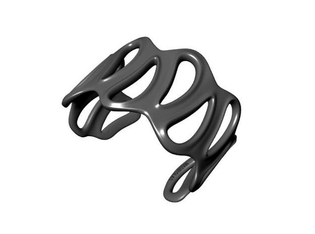 sinuous bracelet 43 3d printed Description