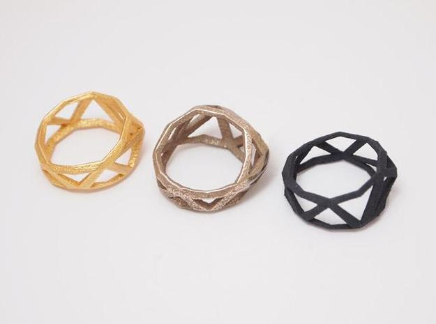 Comion ring small 3d printed 3 materials