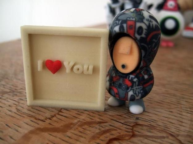 I Love You 3d printed Description