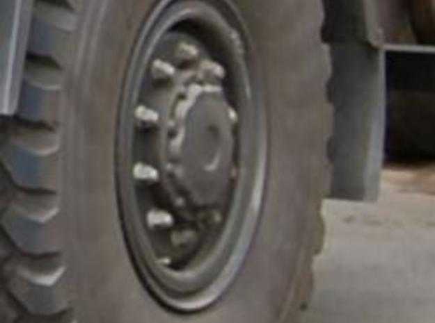 Rim for military truck tire 3d printed The rear wheel of a military MAN truck