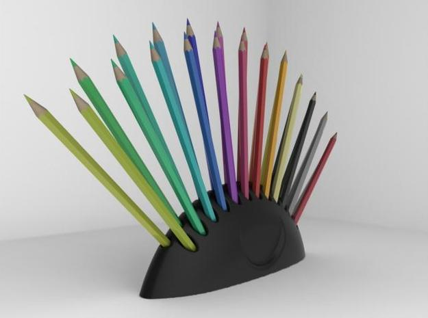 Colored pencil holder 3d printed filled pencil holder