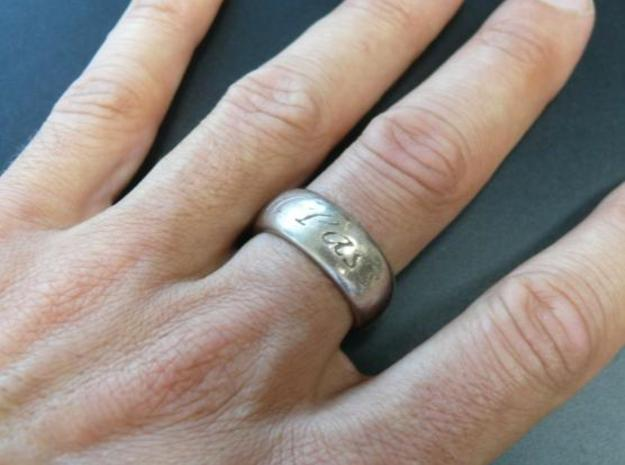 This Too Shall Pass, custom ring size 3d printed Stainless Steel 2