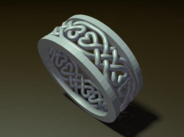 Heart Celtic Knot Ring size 7 3d printed Description