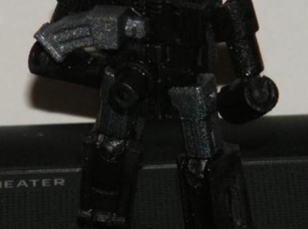 """Vantage"" Gunslinger figure 3d printed Robot mode rear view"