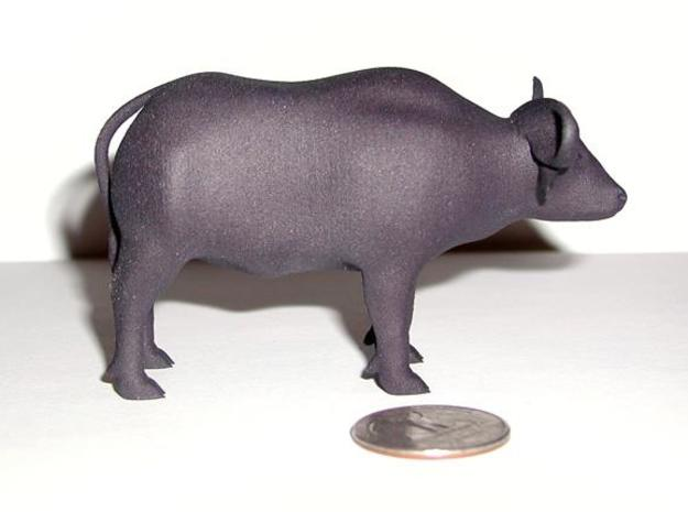 Cape Buffalo 3d printed Printed, in Black Strong & Flexible