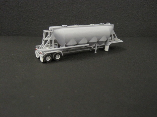N scale 1/160 J&L/Heil 1636 Dry Bulk Trailer 18 3d printed Details are pretty impressive considering the size of this model.