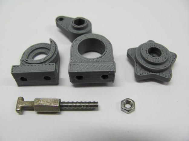 Laptop Latch Parts 3d printed Parts