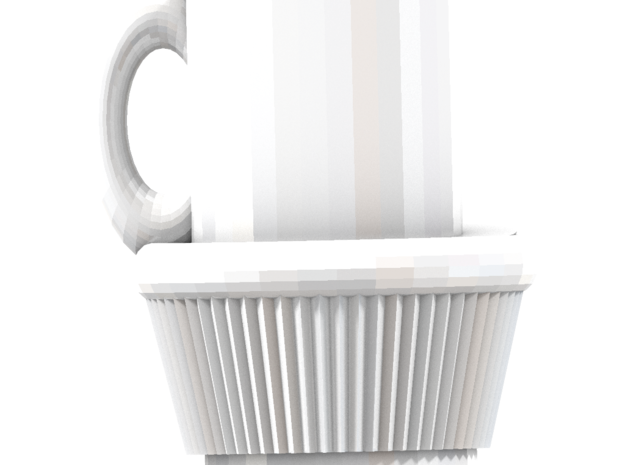 Fullsized Cupcake With Coffee cup 3d printed