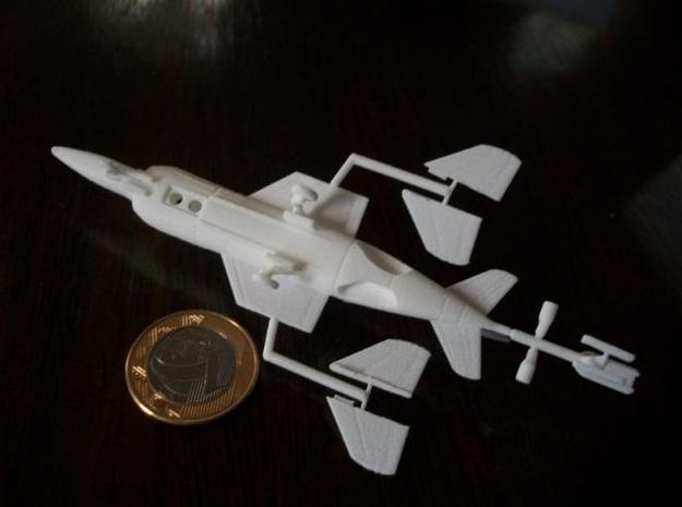 010A Yak-38 Forger 1/144 3d printed Printed in WSF - Bottom view