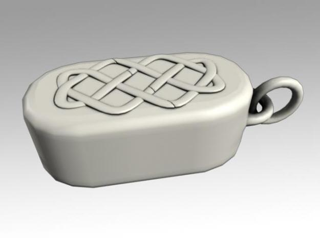 Heartbox Locket (Celtic Knot) 3d printed Closed and locked.
