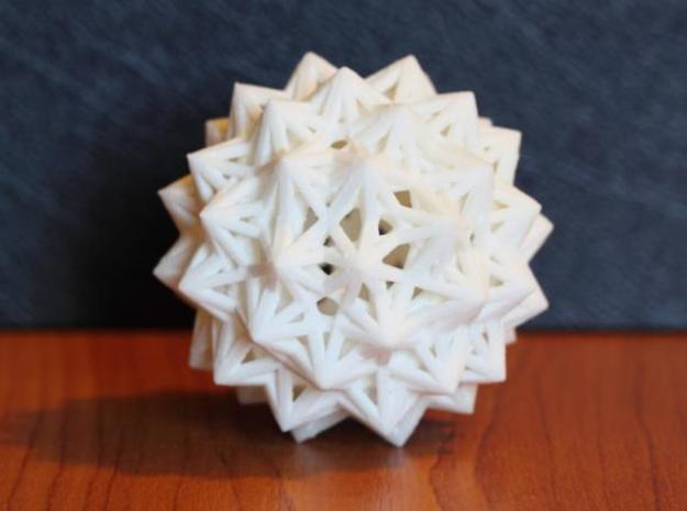 Uniform Beams Medium - Pack C 3d printed WSF - U75 Great Dirhombicosidodecahedron