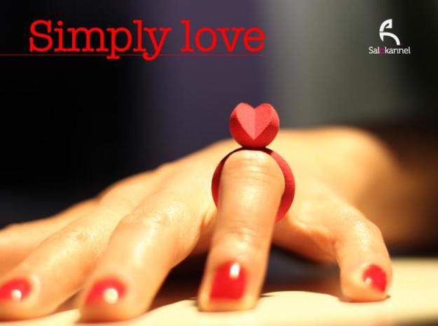 SIMPLY LOVE - size 6 3d printed Photo