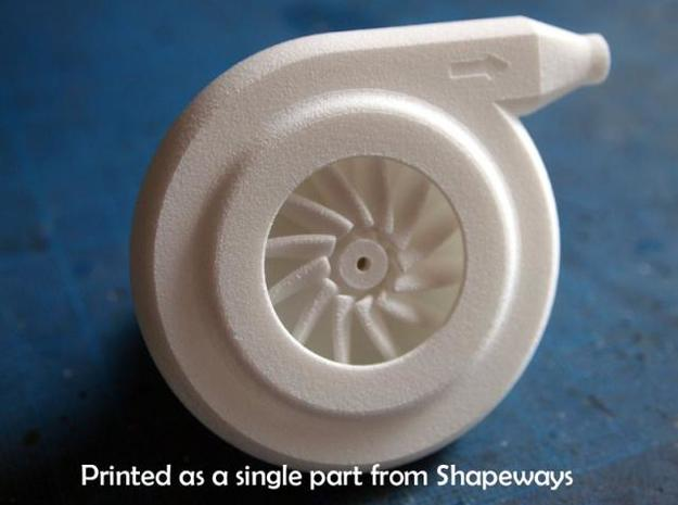 Mini Centrifugal Compressor 3d printed Description
