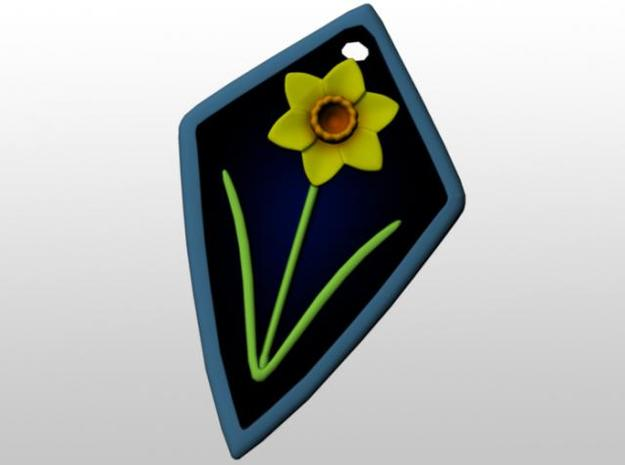 Daffodil Pendant 3d printed Front