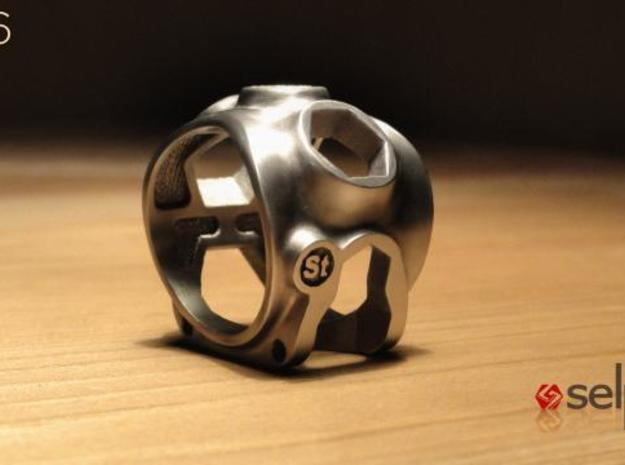 1086 ToolRing - size 11 (20,60 mm) 3d printed 1086 ToolRing - Brushed Finish B