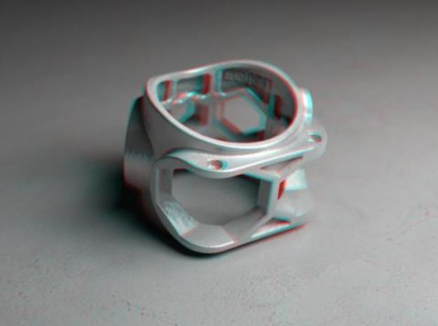 1086 ToolRing - size 12 (21,40mm) 3d printed 1086 ToolRing - Anaglyph (back)