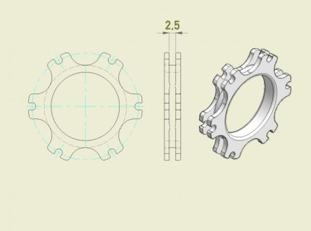 SB5 Brake Disc Guide 3d printed Drawing