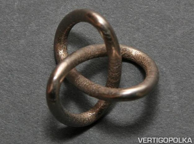 Classic Trefoil Knot 30mm 3d printed Classic Trefoil Knot 30mm - stainless steel
