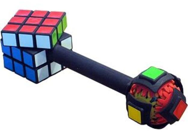 Dumbbell Cube 3d printed Mechanism