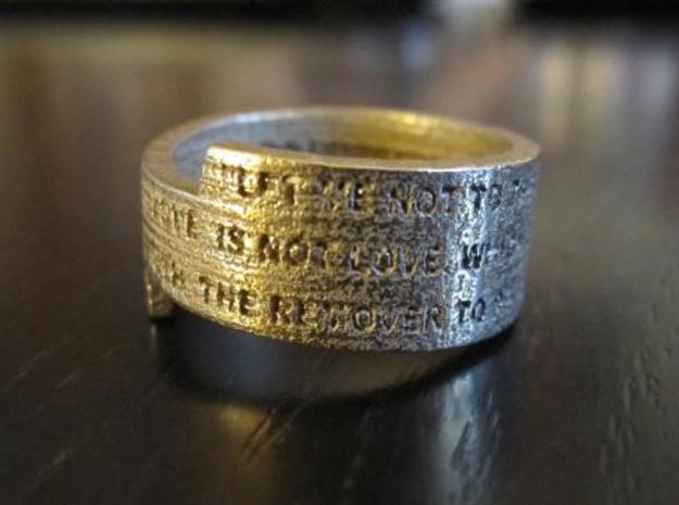 Sonnet Ring 3d printed Ring unpolished 2