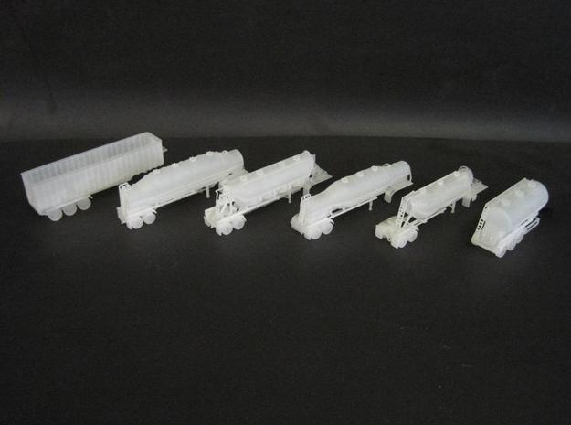 N scale 1/160 Dry Bulk 1040 Superjet Trailer 11 3d printed My first 3D N-scale models in FUD material.