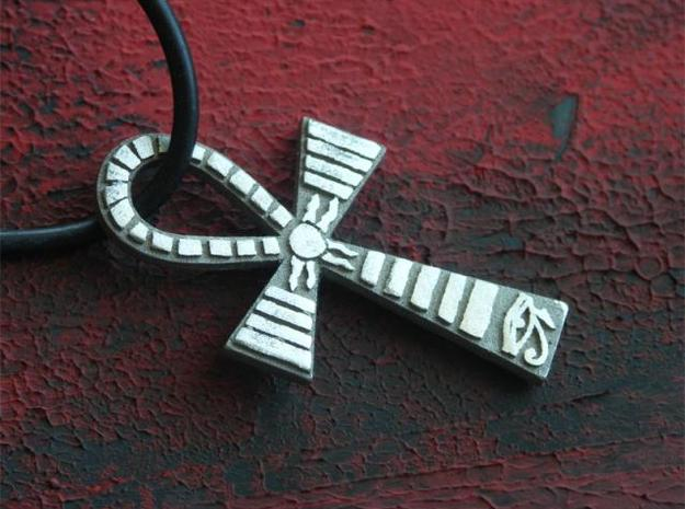 Egyptian Ankh Pendant 3d printed Stainless Steel