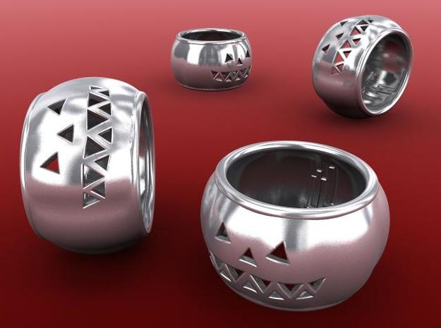 Pumpkin Ring 3d printed Silver render