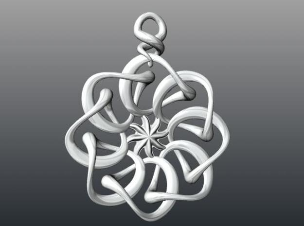 Twisted earring... or pendant 3d printed Description