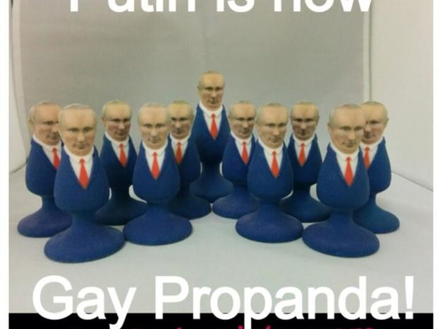 Mr. Putin Plug 3d printed Under Putin's anti gay laws.. Gay propaganda is banned.. does that mean Putin is Banned?