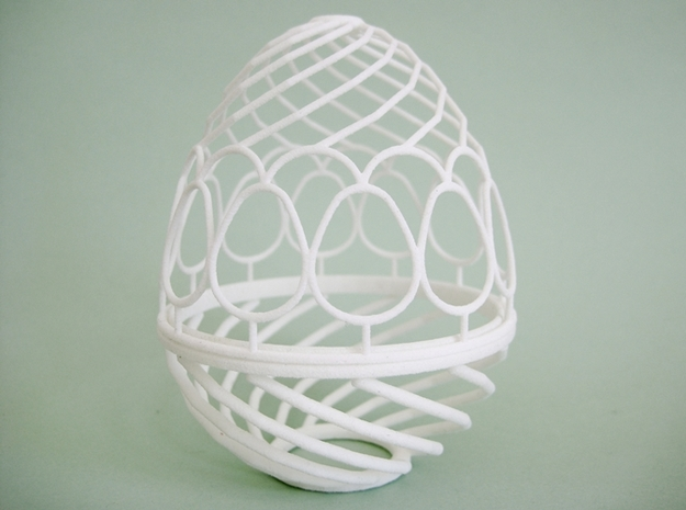 Nested Eggs 3d printed Largest.