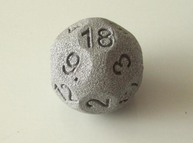 D18 Sphere Dice 3d printed In Alumide