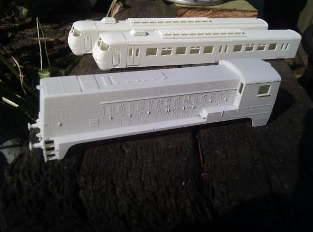 NS 2200 (1:120) 3d printed Model with 1 coat of Primer! No sanding applied!