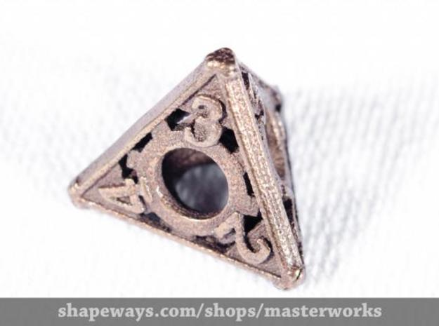 Steampunk d4 3d printed Antique Bronze Gloss