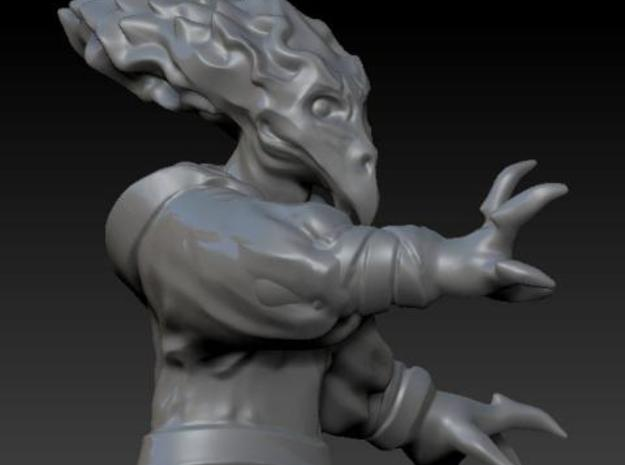 Bird Alien Monk 3d printed Detail of head