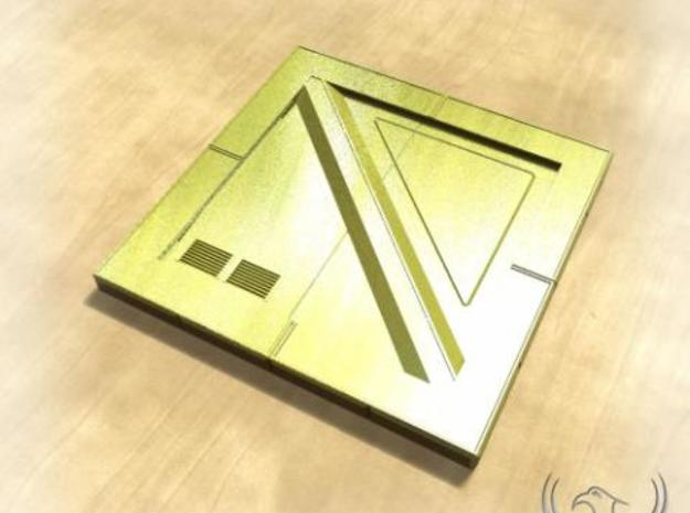 PHX Plate 1x1 3d printed PHX Plate Gold Rendered