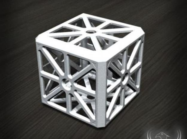 Hollow Box 3d printed White Strong & Flexible material 3D Render Example