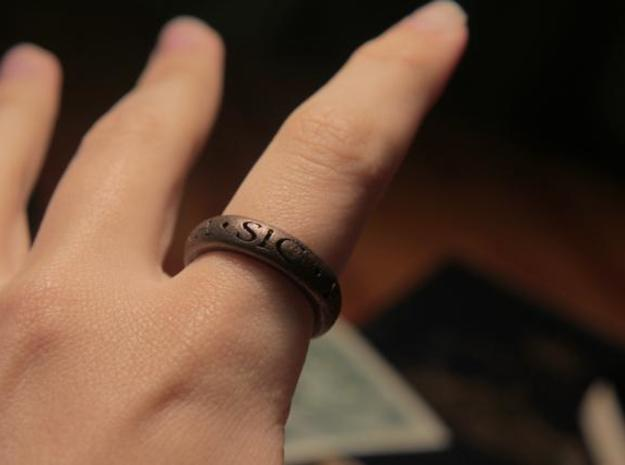 Explorers Ring - U3 Version 3d printed U3 ring in antique bronze