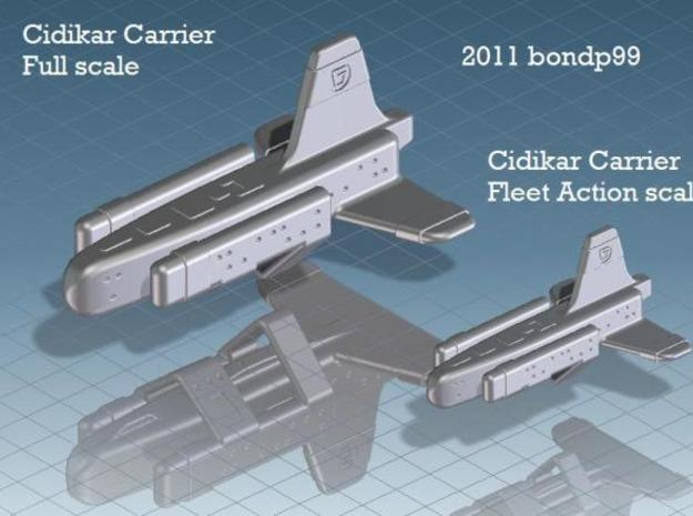 Cidikar Fleet Action 3d printed comparison of Full scale and Fleet Action scale