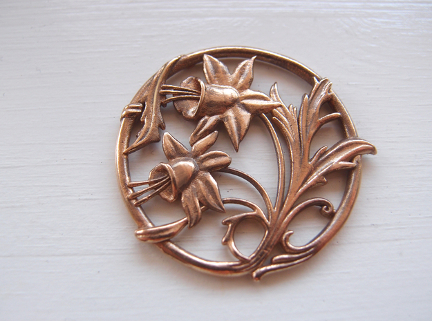 Art nouveau replica 02 - Easter lillies 3d printed